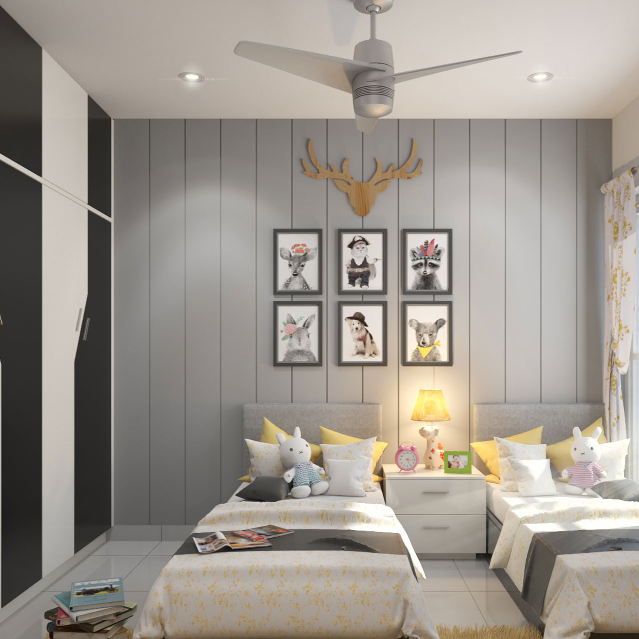 Baby bedroom where It reminds them of castles, fairies, secret gardens, the night skies and journeying into a dream in kids bedroom design