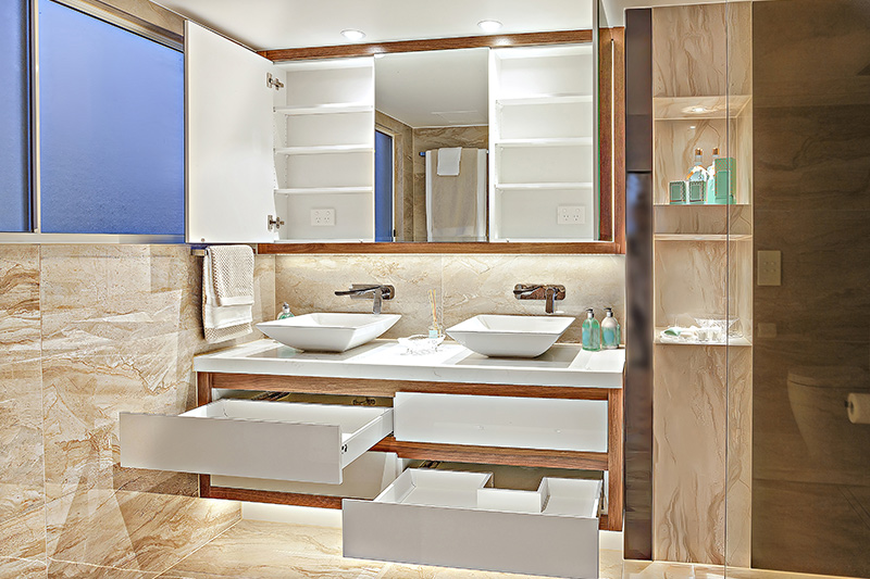 Bathroom rack shelf to sort your essentials to make a good use of available space of bathroom storage
