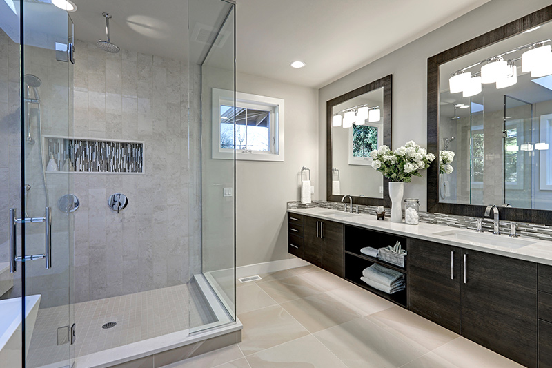Bathroom storage ideas for your home with a separate shower cubicle which makes your bathroom look modern for small bathroom storage ideas