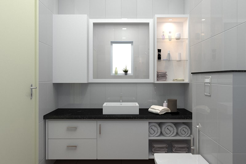 Bathroom wall cabinet design by compartments, it is the best bathroom cabinet design idea
