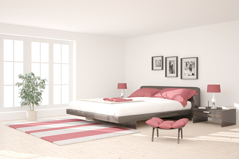 Bedroom interior decoration with a minimalistic bedroom design with elegant bedroom design decoration