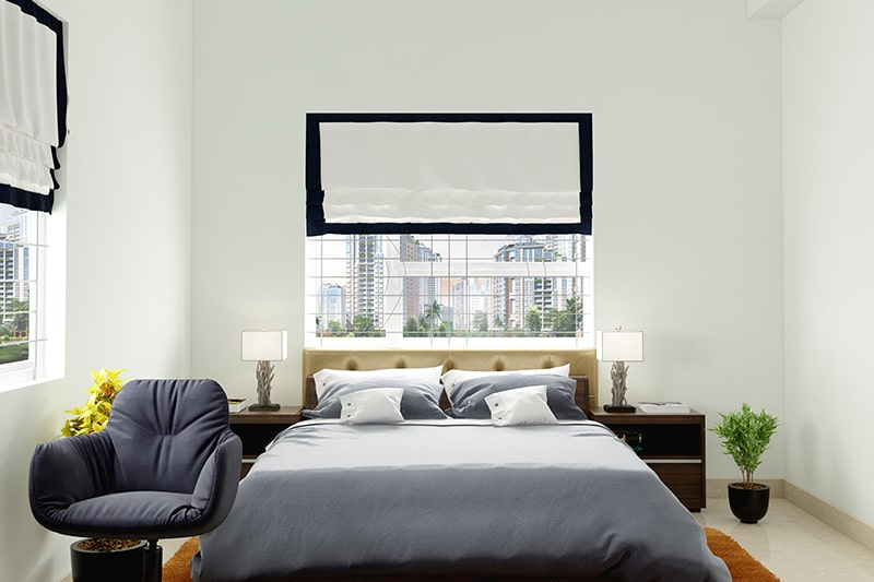 Bedroom paint color ideas by using white to making your bedroom look more spacious