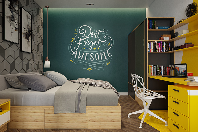 Bedroom wallpaper india with motivational quotes for daily inspiration which infuse positive energy to keep you motivated for bedroom design wallpaper