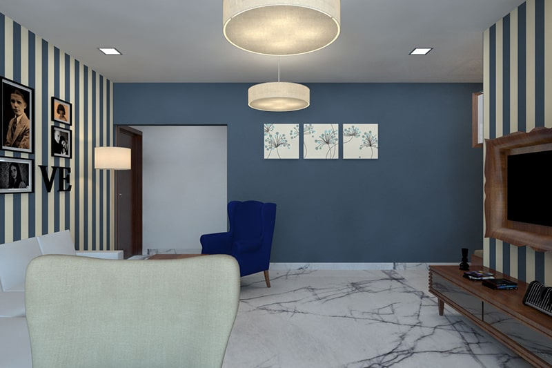 Blue paint colors for bedrooms, blue is popular for being a symbol of calmness