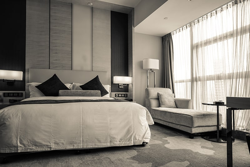 Classic modern black and white indian style bedroom designs are a popular choice in modern-day bedroom interior designs