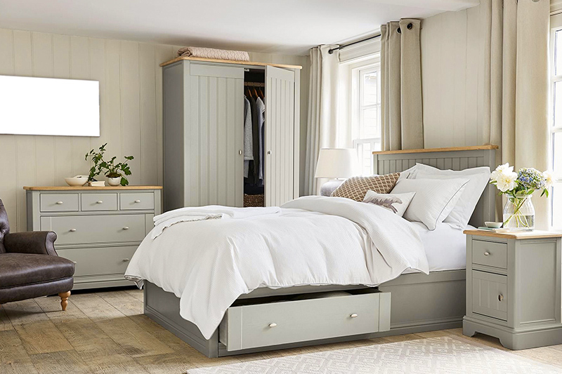 Bedroom interior decoration with smart and elegant storage drawers for internal decoration of bedroom