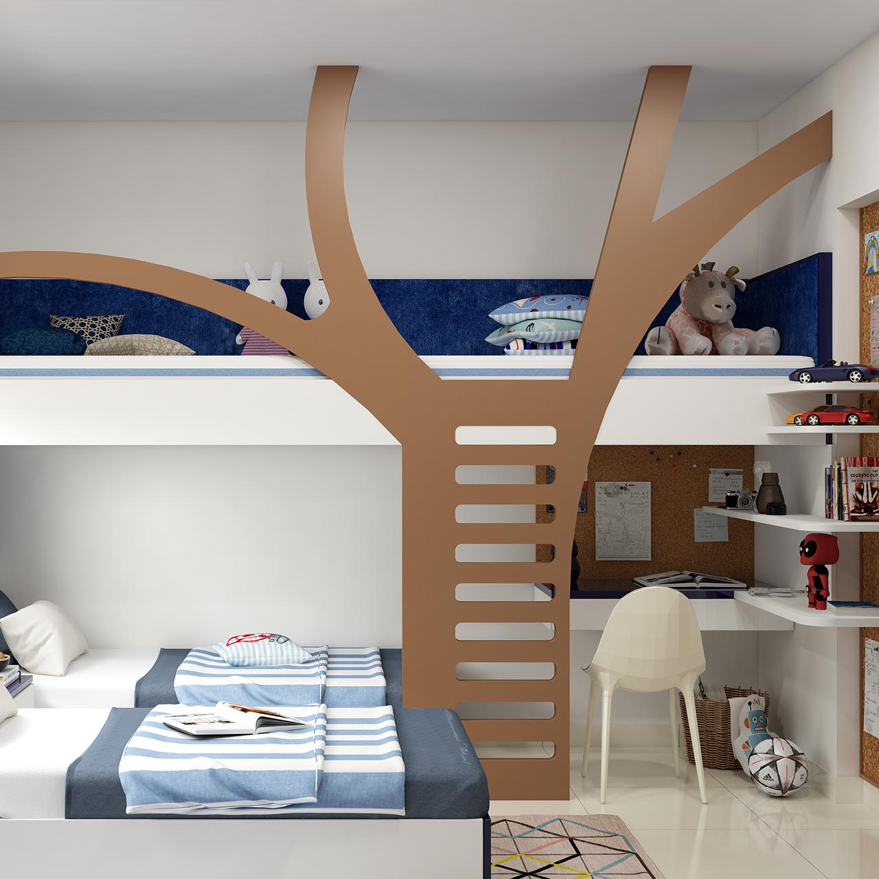 Kids bedroom where they study, play, perform activities and even catch up with their little friends and here are some children bedroom ideas