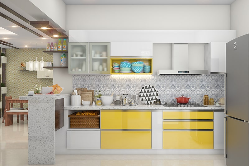 Kitchen vastu colours, paint your kitchen walls in bright colours like yellow, orange and red