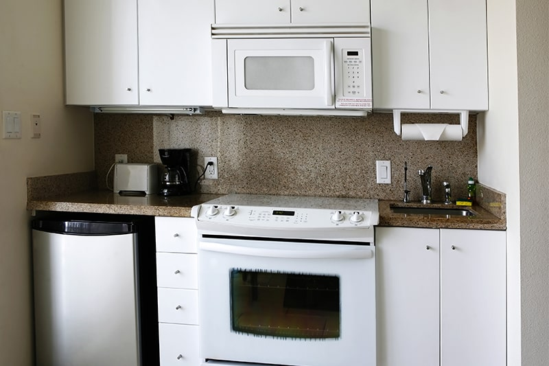 Saves storage space in your kitchenette with downsizing appliances