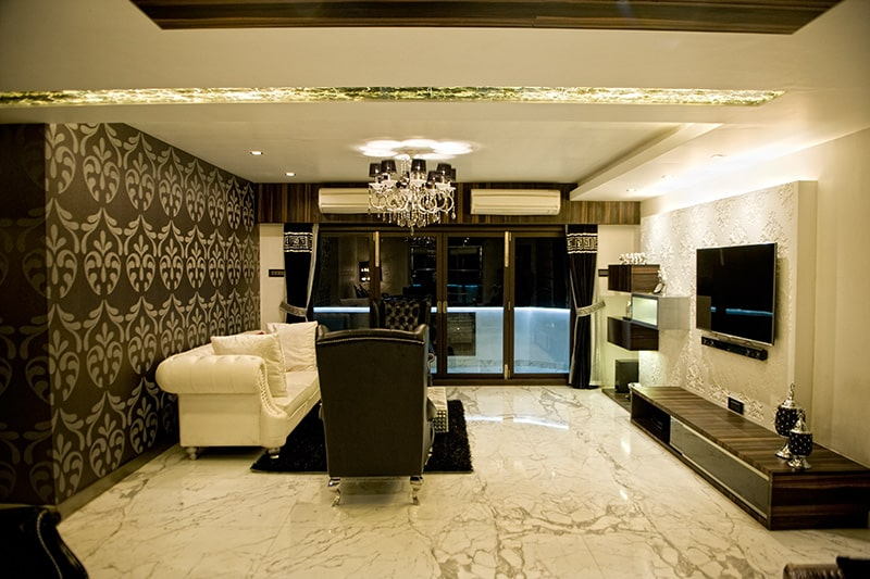 Wallpaper designs for living room with motifs to add a layer of style to your living room