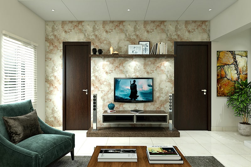 Wallpaper designs for living room with the effects of marble