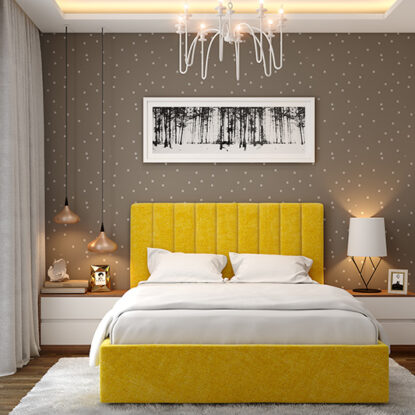 Bedroom design wallpaper for your home with a subtle grey wallpaper that lends a beautiful look for bedroom wallpaper design ideas