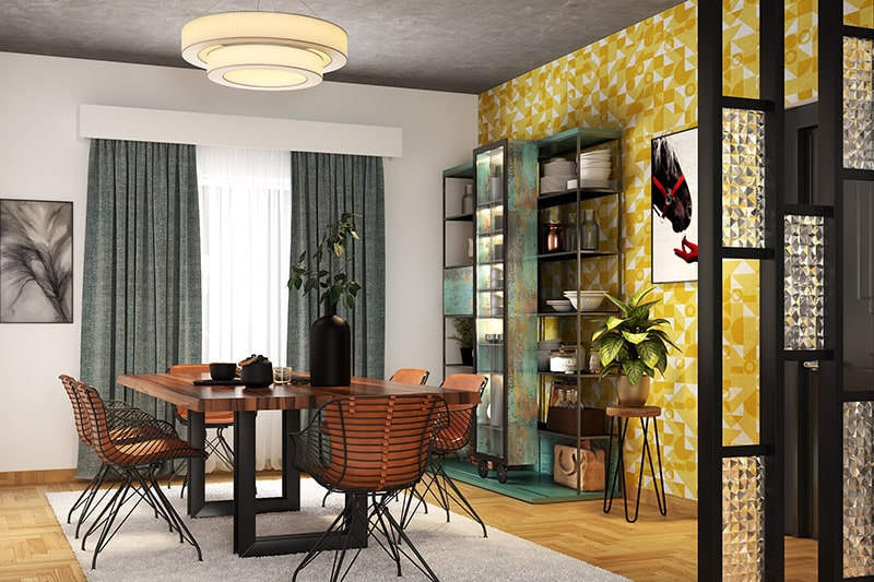 Modern dining room cabinets gives classy and bold touch to your dining room with modern multi-shelved cabinet