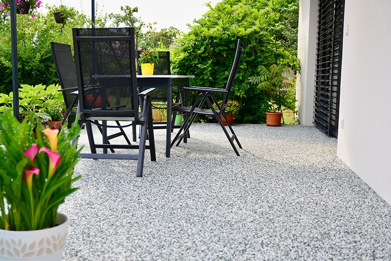 Balcony floor tiles with natural stone to make a beautiful ground floor balcony design