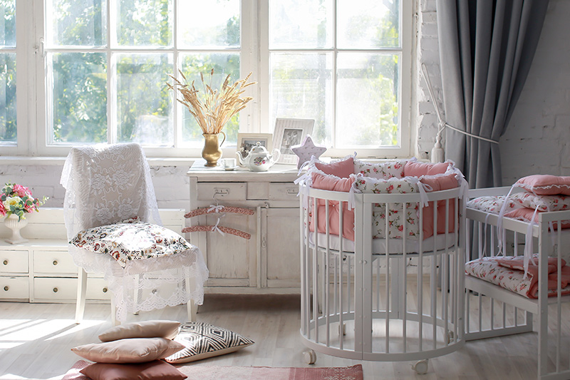 Nursery design ideas for your home with round  and square baby hugs for nursery designs girl