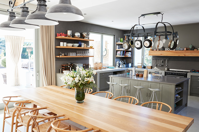 Open kitchens are accessible, functional and look luxurious too.