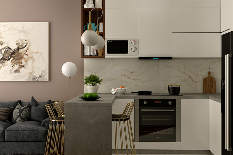 Open Kitchen design in hall which is the best way to make most out of your space in open kitchen with hall design