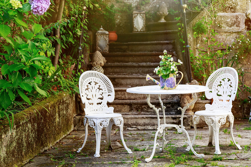 Outdoor balcony chairs durable, long lasting albeit a little heavy wrought iron chair set for balcony