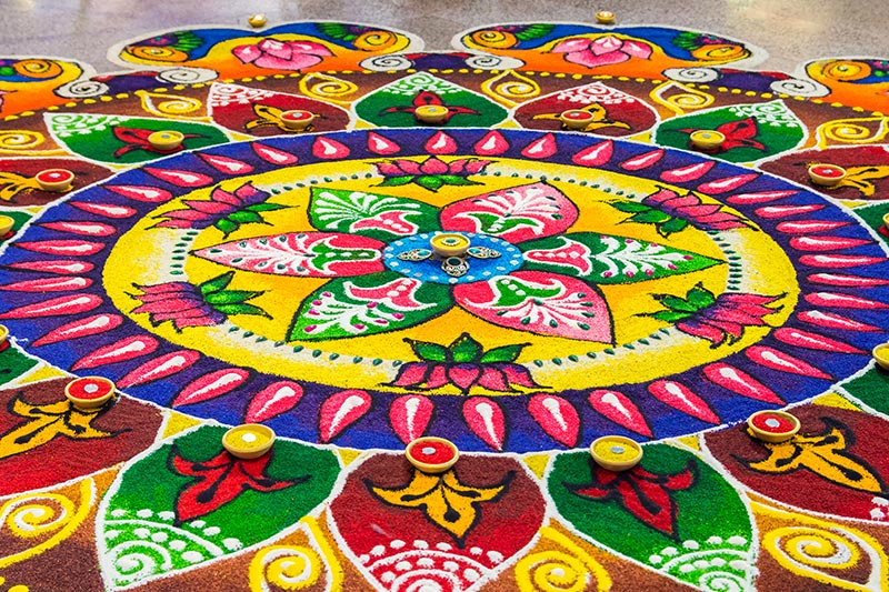 Pongal decoration with out-of-the-box rangoli designs for your home entrance, living room and pooja room for your home