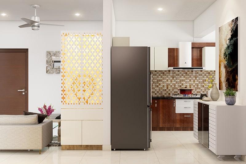 Pooja unit door designs a beautiful pattern on wooden or metal doors to make your pooja room design look traditional