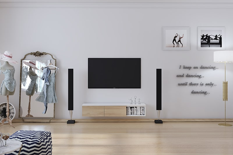 Simple wooden showcase designs for minimalistic home
