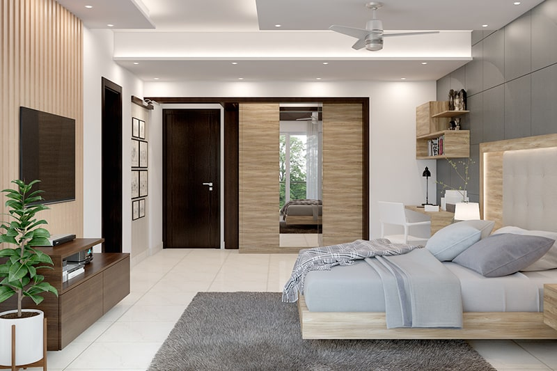 Vastu colors for master bedroom can include light blue, light green, pink, white, mauve, and gold are the right vastu colours according to vastu