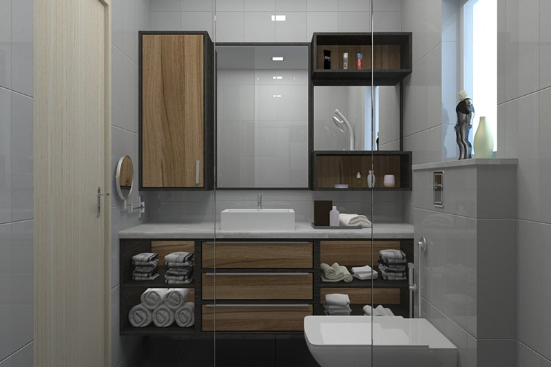 Wooden bathroom cabinets making your bathroom cabinet storage look clean