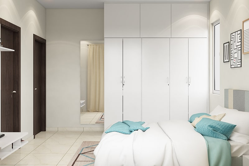 5 door wardrobe designs gives you space to hang your clothes and multiple shelves to your wardrobe door design