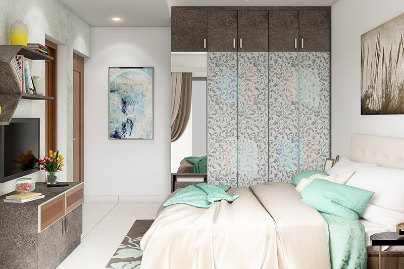 Cupboard bedroom ideas where mirrors help reflect light to every corner of your room for bedroom cupboard interior design
