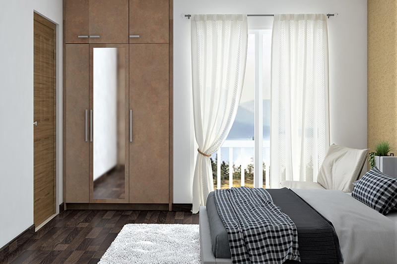 Bedroom design cupboard which is built into the wall to provide you with extra space for your latest cupboard design for bedroom