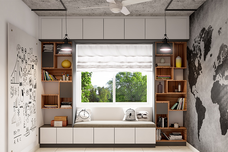 Ceiling colours for bedroom which can bring an additional dimensional element to a simplistic room