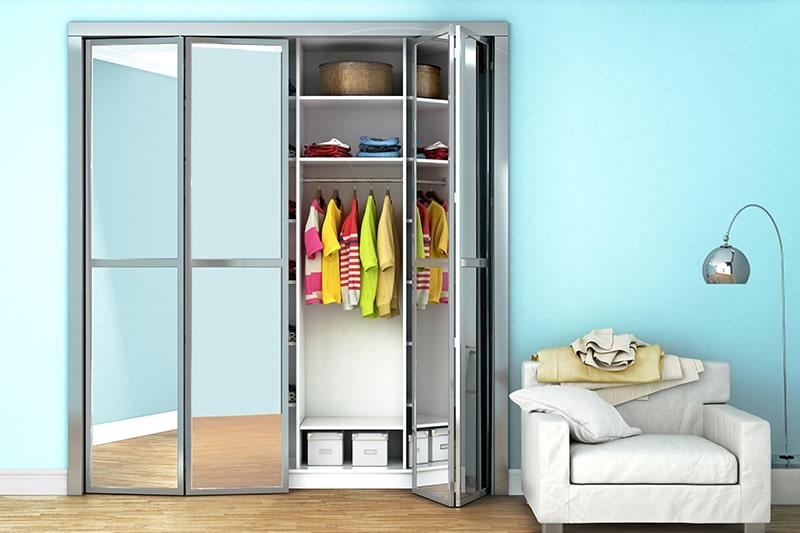 Folding door wardrobe designs especially for space-saving solution for smaller homes
