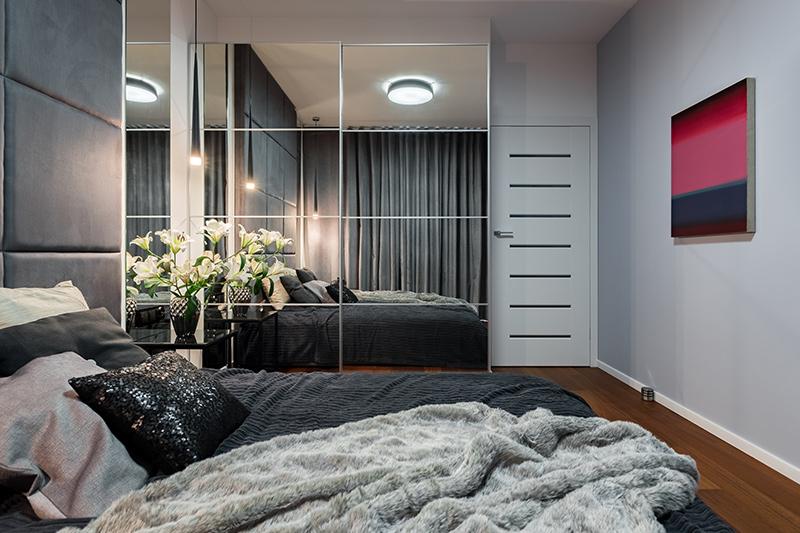 Full mirror door wardrobe design looks aesthetic and classy to your bedroom wardrobe designs