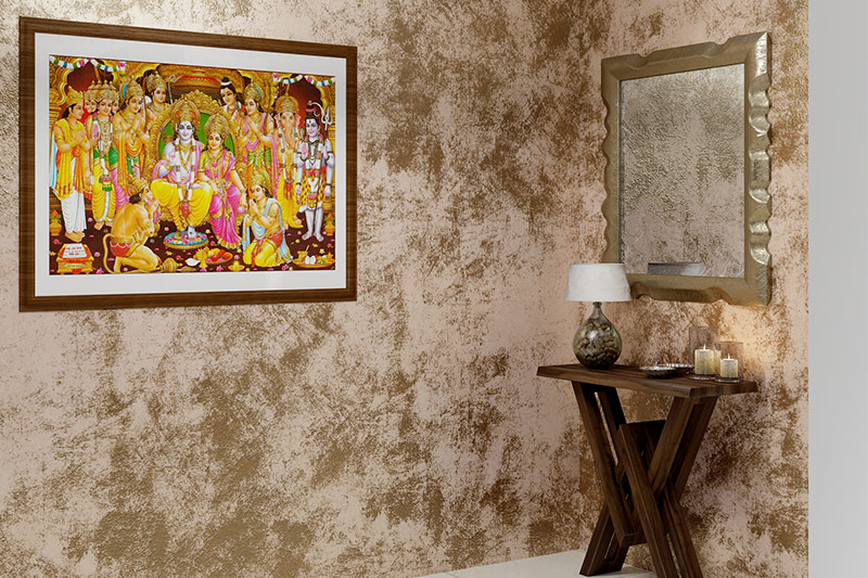 wall painting techniques texture try metallic paint on the walls can give a luxurious vibe to the room.