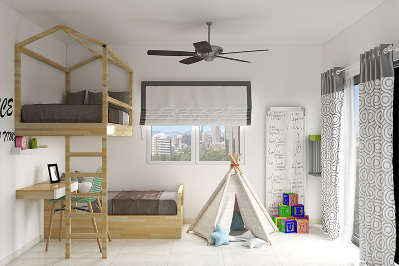 Kids study room with bedroom ideas for your home