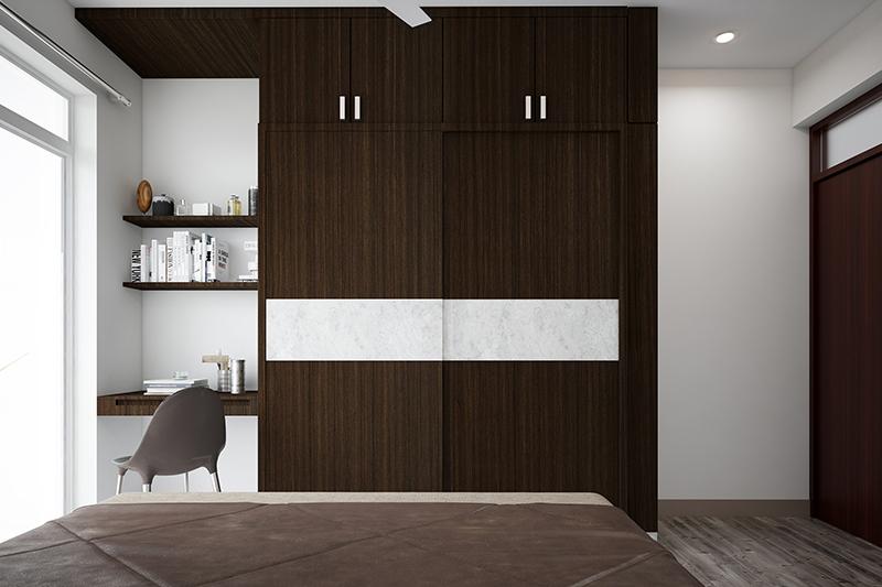 MDF door wardrobe design for storage that is highly durable to your bedroom wardrobe door design