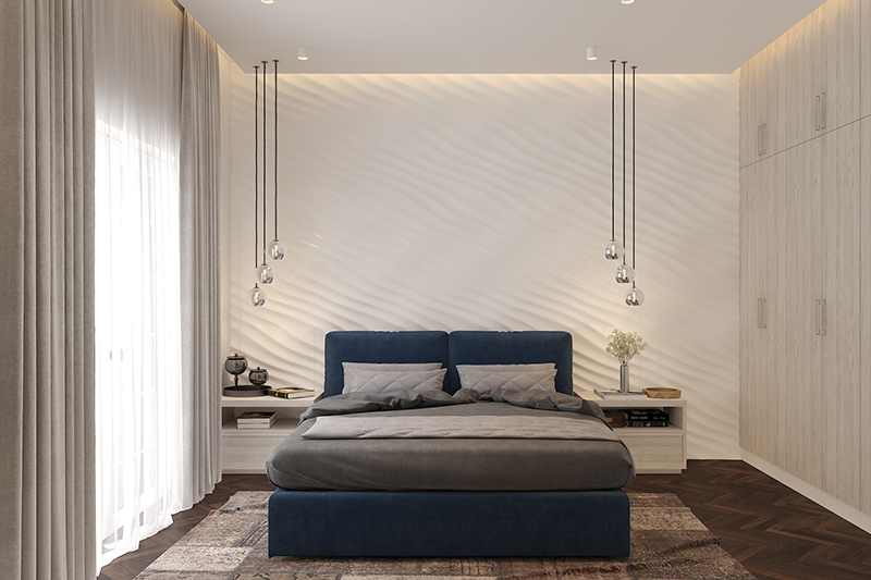 modern bedroom with rich textures are all that a modern bedroom needs