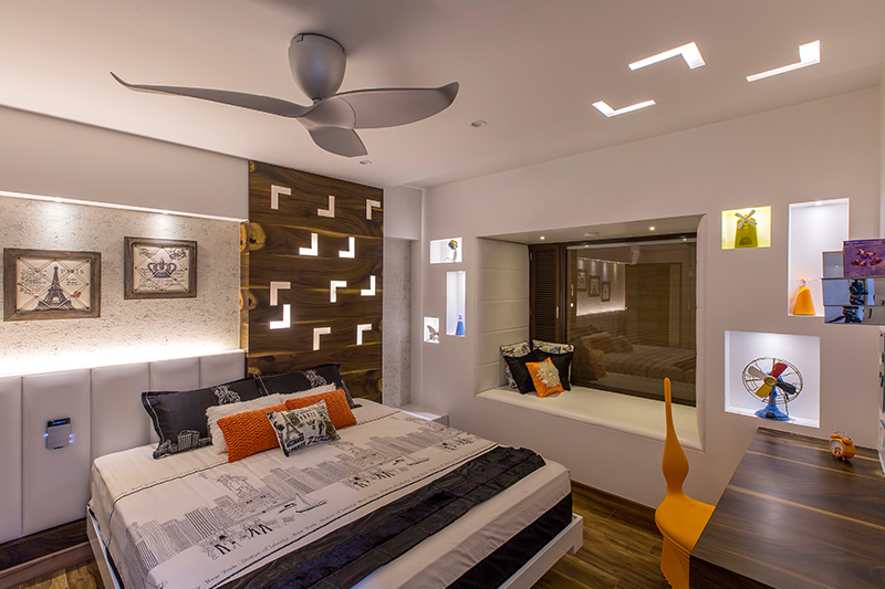 modern master bedroom design which has its base in a neutral white