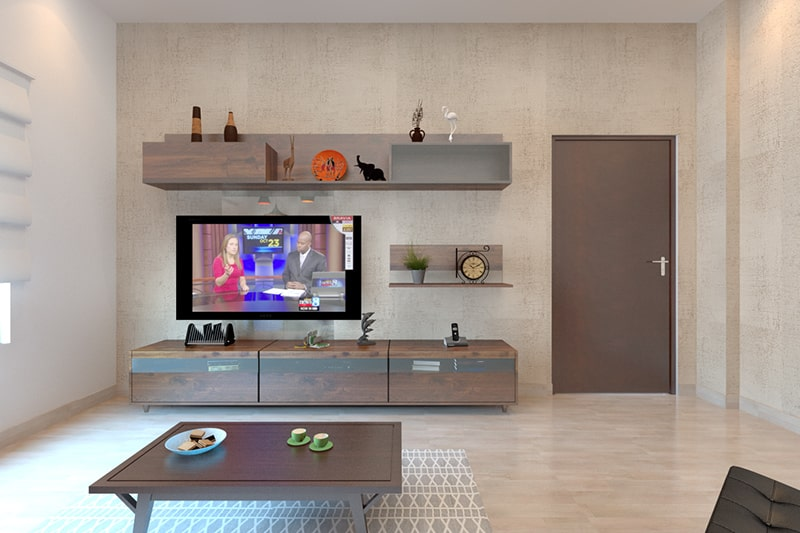 Simple showcase designs for your hall