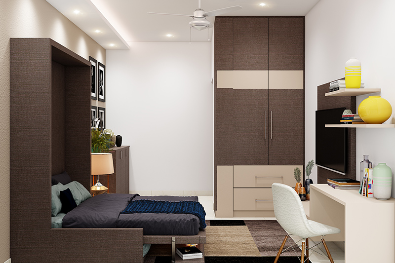 Study come bedroom for your home where there are there are three distinct zones in the room