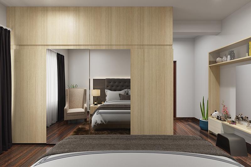 Sunmica wardrobe door design gives a quality of your bedroom wardrobe