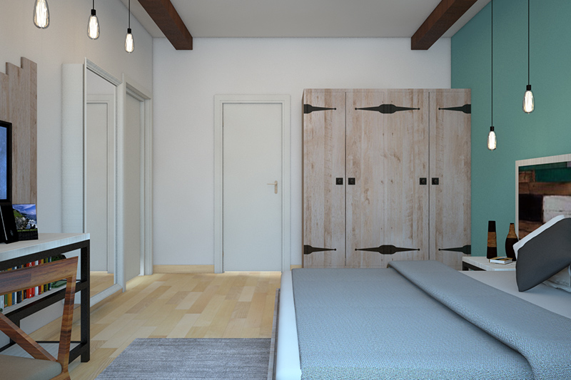 Swing door wardrobe design is extremely sturdy and easy to install and increased storage space