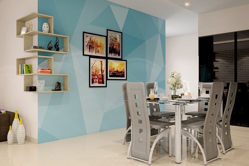 Use painters' tape easy painting techniques to create your dream wall.