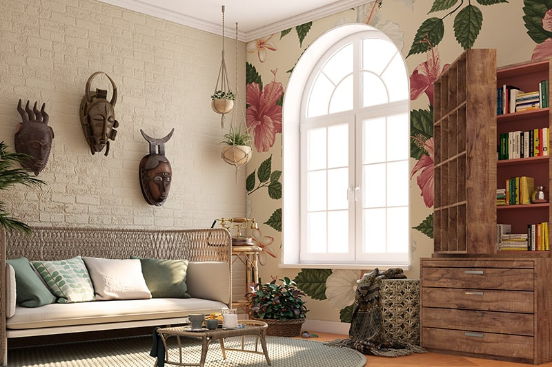 90s home wallpapers with floral or country-inspired or geometric wallpapers
