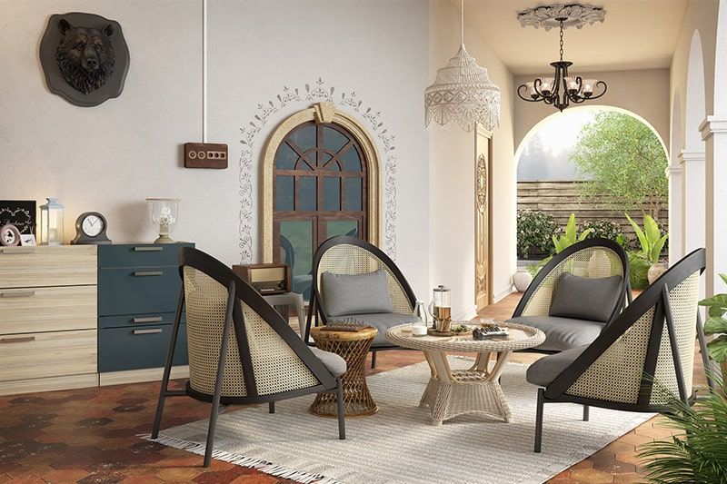 90s style furniture were wicker and rattan furniture for your home interiors