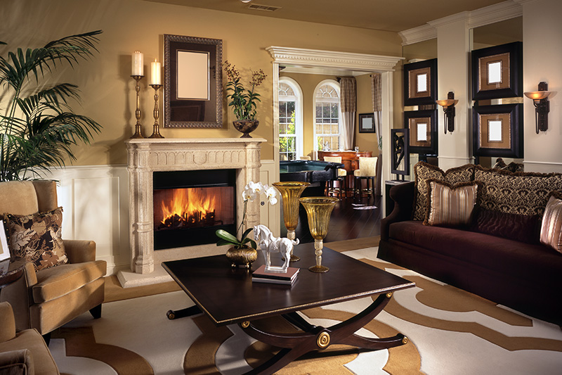 Antique luxury modern living room design brings the feel and touch of old luxury.