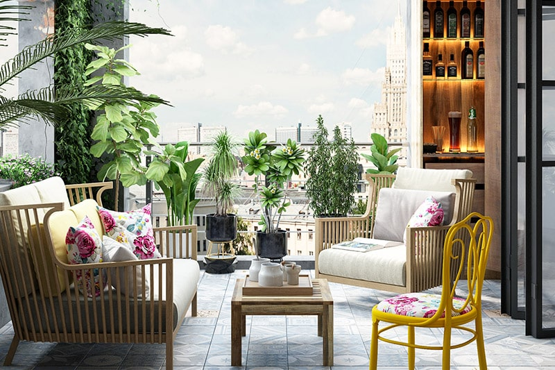 Balcony design ideas in hyderabad to get over with necklace road