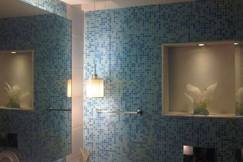 Geometric diamond and hexagonal-shaped tiles are new decades of home decor trends.