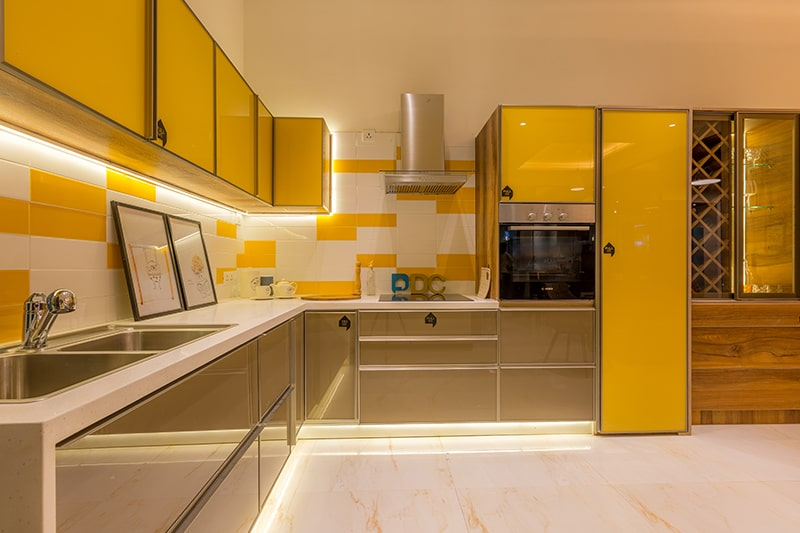 Sleek and smooth finishes in modular kitchens not the case in civil kitchens