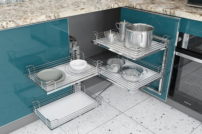 Easy to clean in modular kitchen, difficult to deep clean hidden corners and edges in civil kitchens